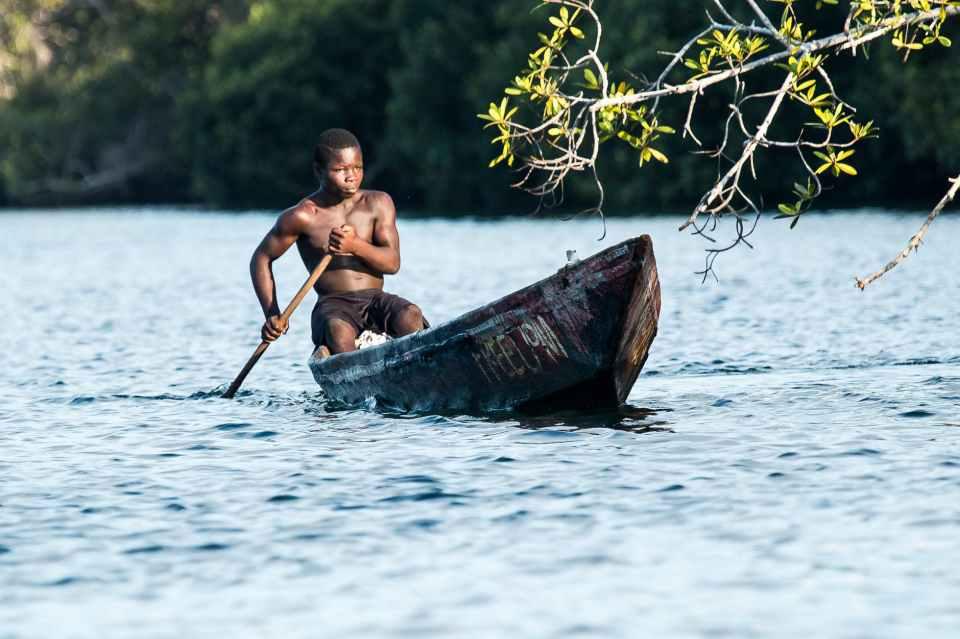 canoe lake man outdoors